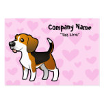 Beagle Love Pack Of Chubby Business Cards