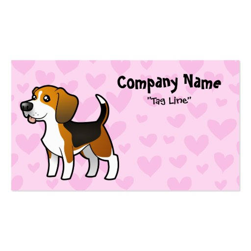 Beagle Love Pack Of Standard Business Cards