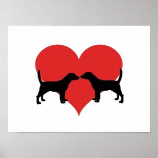 beagle love poster