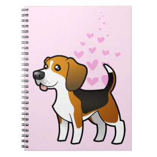Beagle Love Spiral Notebook
