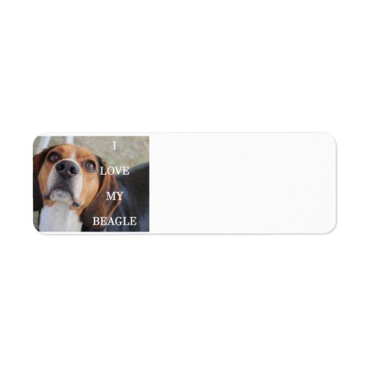 beagle love w pic black red white