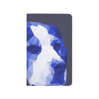 Beagle Low Poly Art in Blue Journals