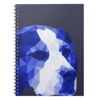 Beagle Low Poly Art in Blue Notebooks