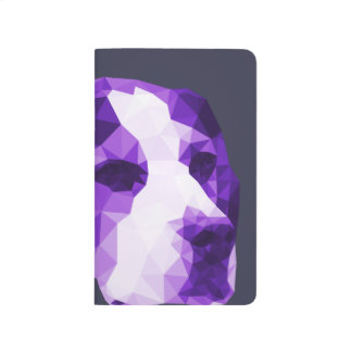 Beagle Low Poly Art in Purple Journals