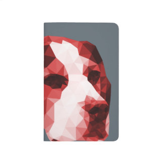 Beagle Low Poly Art in Red Journals