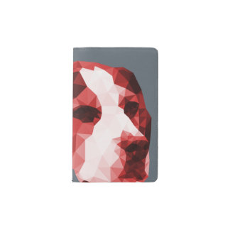 Beagle Low Poly Art in Red Pocket Moleskine Notebook