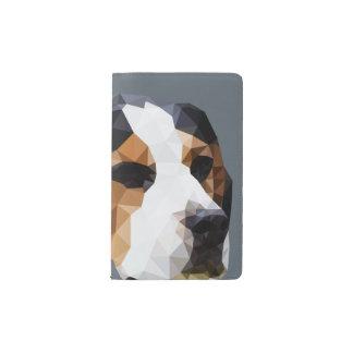 Beagle Low Poly Art Pocket Moleskine Notebook