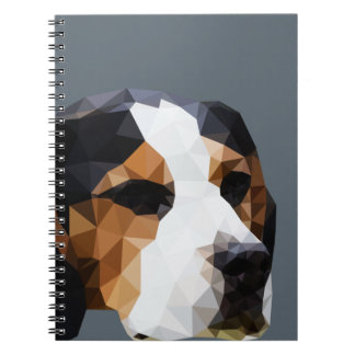 Beagle Low Poly Art Spiral Notebooks