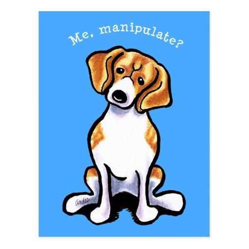 Beagle Me Manipulate Off-Leash Art™ Postcard