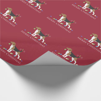Beagle Merry Christmas Design Wrapping Paper