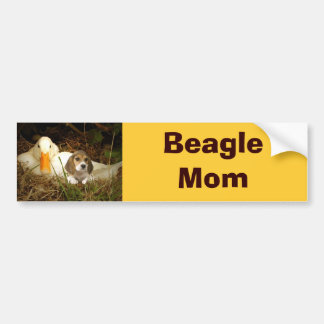 Beagle Mom Bumper Sticker
