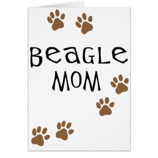 Beagle Mom Card