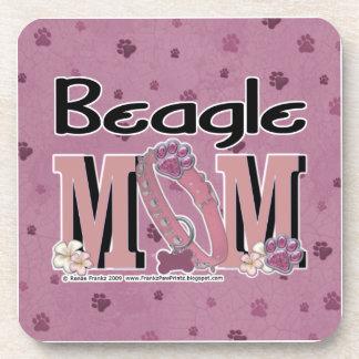 Beagle MOM Beverage Coasters