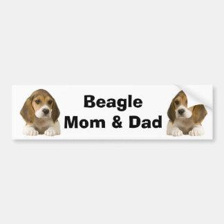 Beagle Mom & Dad Bumper Sticker