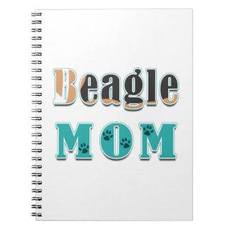 Beagle Mom Dog Colors Notebook