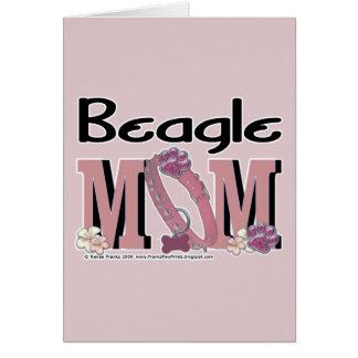 Beagle MOM Greeting Card