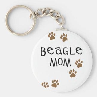 Beagle Mom Key Ring
