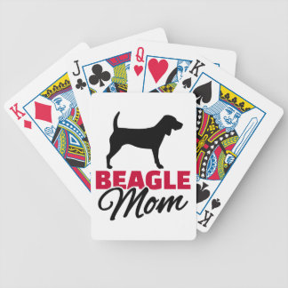 Beagle Mom Bicycle Playing Cards