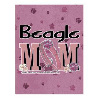 Beagle MOM Postcard