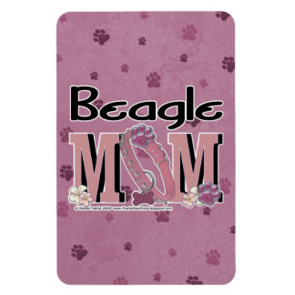 Beagle MOM Rectangular Photo Magnet