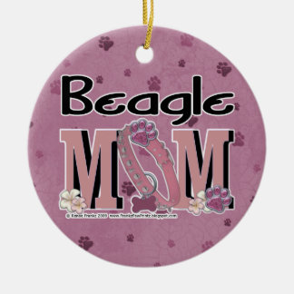 Beagle MOM Round Ceramic Decoration