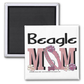 Beagle MOM Square Magnet
