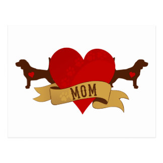 Beagle Mom [Tattoo style] Postcard