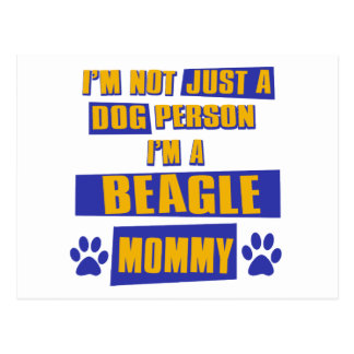 Beagle Mommy Postcard