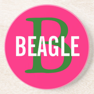 Beagle Monogram Beverage Coasters