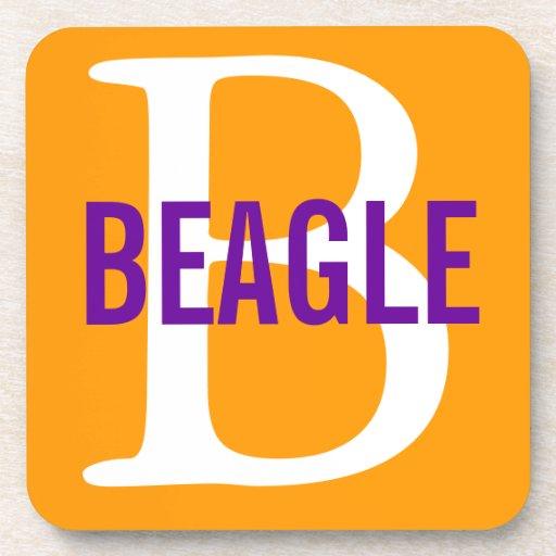 Beagle Monogram Beverage Coaster