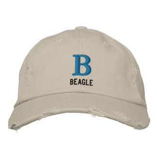 Beagle Monogram Embroidered Hat