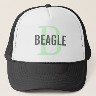 Beagle Monogram Trucker Hat