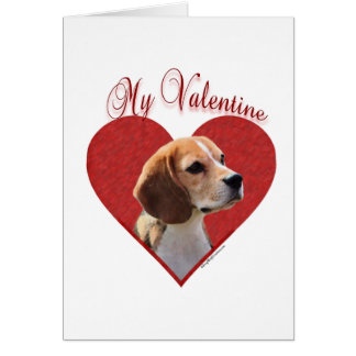 Beagle My Valentine Greeting Card