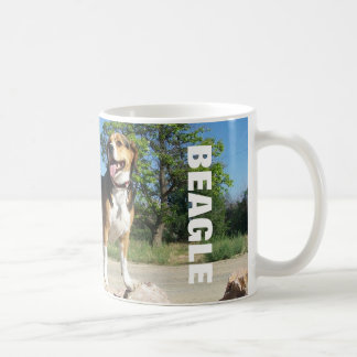 Beagle On The Rocks - Cooper Beagle Coffee Mug