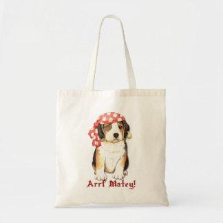 Beagle Pirate Budget Tote Bag