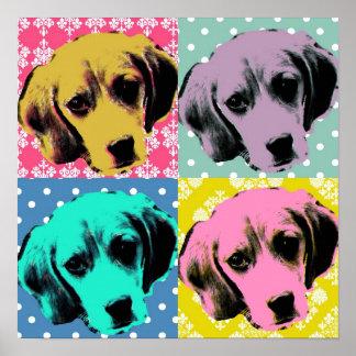 Beagle Pop Art Print