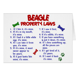 BEAGLE Property Laws 2 Greeting Cards
