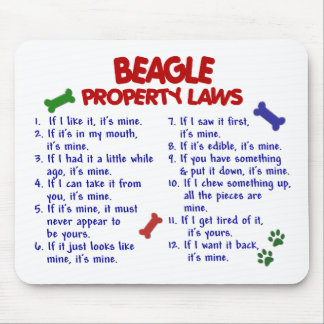 BEAGLE Property Laws 2 Mouse Mat