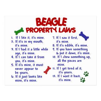 BEAGLE Property Laws 2 Postcard
