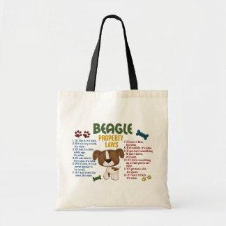 Beagle Property Laws 4 Budget Tote Bag