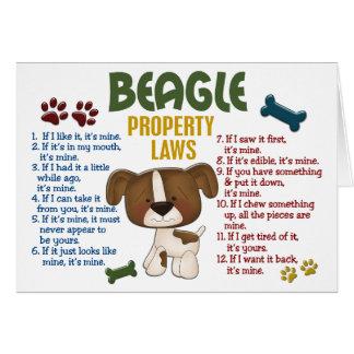 Beagle Property Laws 4 Greeting Card