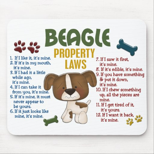 Beagle Property Laws 4 Mousepad