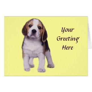 Beagle Pup Greeting Card