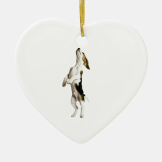 Beagle Puppy Ceramic Heart Decoration