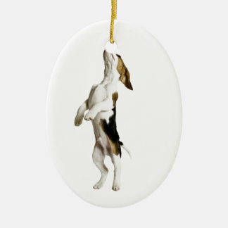 Beagle Puppy Ceramic Oval Decoration