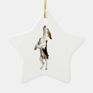 Beagle Puppy Ceramic Star Decoration