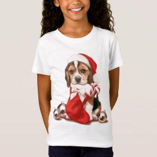 Beagle Puppy Christmas T-Shirt