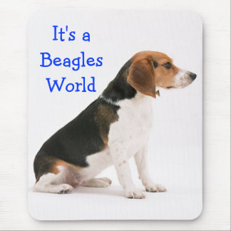 Beagle Puppy Dog Blue Love  - Beagles World Mouse Mat