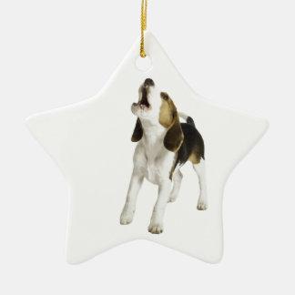 Beagle Puppy Dog Ceramic Star Decoration