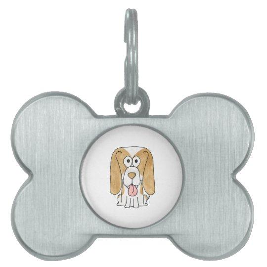Beagle Puppy Dog. Pet Tag